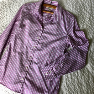 Banana Republic Lavender Stripe Tailored-Fit Shirt